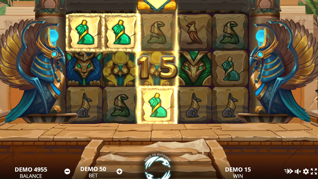 Rise of Horus slot reels